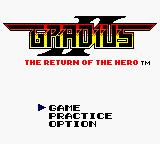 Konami GB Collection Vol. 4 Game Boy Color Gradius II - Title Screen