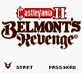 Konami GB Collection Vol. 4 Game Boy Color Castlevania II - Title Screen