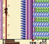 Konami GB Collection Vol. 4 Game Boy Color Castlevania II - You need to get down the rope before the spikes kill you