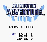 Konami GB Collection Vol. 4 Game Boy Color Antarctic Adventure - Title Screen