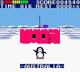 Konami GB Collection Vol. 4 Game Boy Color Antarctic Adventure - You have reached Australia