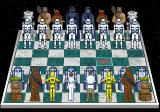 The Software Toolworks' Star Wars Chess SEGA CD Game board