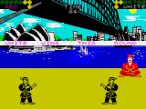 World Karate Championship ZX Spectrum White wins the match