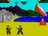 World Karate Championship ZX Spectrum The arena in Rio