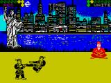 World Karate Championship ZX Spectrum Doing a drop kick