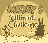 Mickey's Ultimate Challenge Game Boy Title screen.