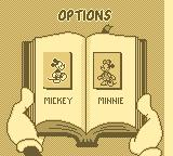Mickey's Ultimate Challenge Game Boy Character selection.