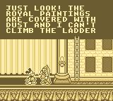 Mickey's Ultimate Challenge Game Boy Daisy needs help with the royal paintings.
