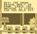 Mickey's Ultimate Challenge Game Boy Mickey must fix the draw-bridge.