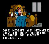 Mickey's Ultimate Challenge Game Gear Intro cutscene, Minnie goes to sleep, wondering what it would be like to live in a magic castle...