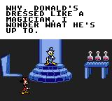 Mickey's Ultimate Challenge Game Gear Minnie finds Donald testing a new shrinking spell.