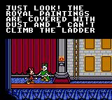 Mickey's Ultimate Challenge Game Gear Daisy needs help with the royal paintings.