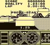 Race Drivin' Game Boy Starting Line