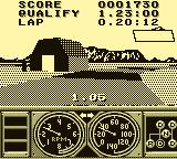 Race Drivin' Game Boy Watch out for the barn