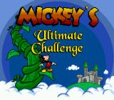 Mickey's Ultimate Challenge Genesis Title screen.