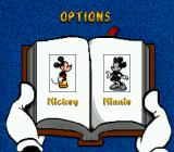 Mickey's Ultimate Challenge Genesis Character selection.