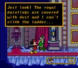 Mickey's Ultimate Challenge Genesis Daisy needs help with the royal paintings.