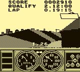 Race Drivin' Game Boy Banked curve