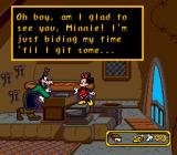 Mickey's Ultimate Challenge Genesis Goofy will ask Minnie to guess what tools he has in his tool box.