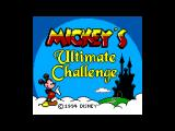 Mickey's Ultimate Challenge SEGA Master System Title screen.