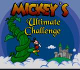 Mickey's Ultimate Challenge SNES Title screen.