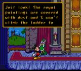 Mickey's Ultimate Challenge SNES Daisy needs help with the royal paintings.