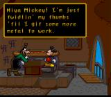 Mickey's Ultimate Challenge SNES Goofy will ask Mickey to guess what tools he has in his tool box.