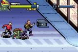 TMNT Game Boy Advance Some of them throw rocks and other things at you, though!