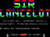 Sir Lancelot  ZX Spectrum Title screen