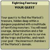 Fighting Fantasy Book 1: The Warlock of Firetop Mountain Palm OS Introduction