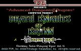 Death Knights of Krynn Commodore 64 Title screen