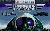 Harrier Combat Simulator Amiga Title screen