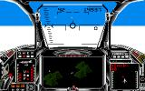 Harrier Combat Simulator Amiga I'm flying above the cloud ceiling.