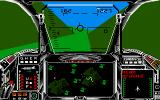 Harrier Combat Simulator Amiga Between the mountains...