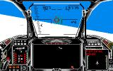 Harrier Combat Simulator Amiga The enemy aircraft is locked.