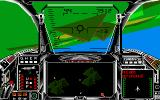 Harrier Combat Simulator Amiga Flying a barrel roll.