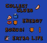 Disney's Bonkers: Wax Up! Game Gear The clue page.