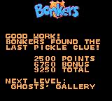 Disney's Bonkers: Wax Up! Game Gear Level complete.