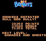 Disney's Bonkers: Wax Up! Game Gear Bonkers defeated Bull Dog Bully!