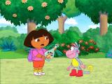 Dora the Explorer: Dance to the Rescue Windows Poor Swiper is trapped in a bottle.
