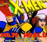 X-Men: Mojo World Game Gear Title screen.