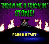 Austin Powers: Welcome to My Underground Lair! Game Boy Color Throw me a frickin stone title screen