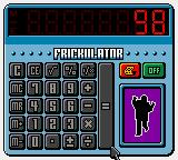 Austin Powers: Welcome to My Underground Lair! Game Boy Color The Frickulator (Calculator)