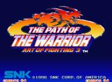 Art of Fighting 3: The Path of The Warrior Neo Geo Title screen (US and European regions)