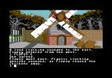 Ingrid's Back! Commodore 64 Issuing commands to Flopsy, outside the windmill