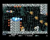 R-Type II Amiga Nice weapon upgrade: The fireballs are moving along the walls.