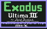 Exodus: Ultima III Commodore 64 Title screen