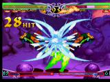 Darkstalkers 3 PlayStation X-AENSLAND (a customized Morrigan) injuries Pyron with the 28 hits of her Ex Move Darkness Illusion.