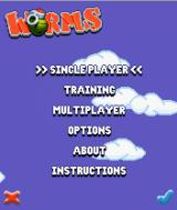 Worms   J2ME Worms v0.1.1 main menu