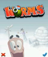 Worms v1.3.3 title screen